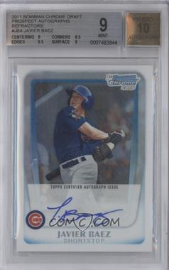 2011 Bowman Draft Picks & Prospects - Chrome Prospects Autograph - Refractor #BCAP-JBA - Javier Baez /500 [BGS 9]