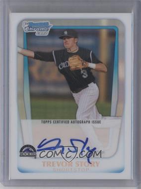 2011 Bowman Draft Picks & Prospects - Chrome Prospects Autograph - Refractor #BCAP-TS - Trevor Story /500