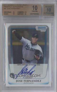 2011 Bowman Draft Picks & Prospects - Chrome Prospects Autograph #BCAP-JF - Jose Fernandez [BGS 10 PRISTINE]