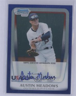 2011 Bowman Draft Picks & Prospects - Chrome USA 16U National Team Autograph - Blue Refractor #AA-AM - Austin Meadows /99 [Mint]