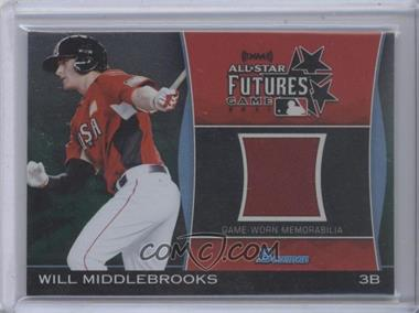 2011 Bowman Draft Picks & Prospects - Futures Game Relics - Green #FGR-WMI - Will Middlebrooks /25