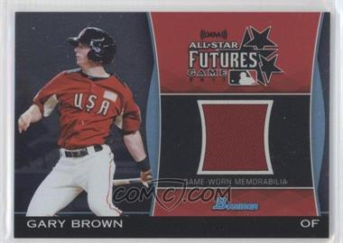 2011 Bowman Draft Picks & Prospects - Futures Game Relics #FGR-GB - Gary Brown