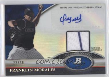 2011 Bowman Platinum - Autograph Relic Refractor - Blue #BAR-FM - Franklin Morales /99