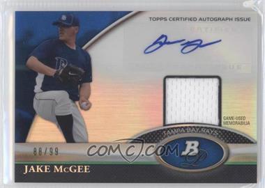 2011 Bowman Platinum - Autograph Relic Refractor - Blue #BAR-JM - Jake McGee /99