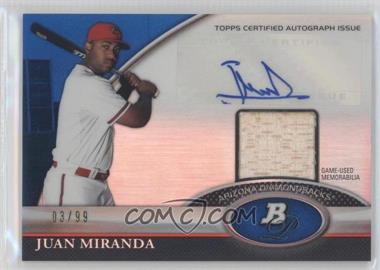 2011 Bowman Platinum - Autograph Relic Refractor - Blue #BAR-JMI - Juan Miranda /99