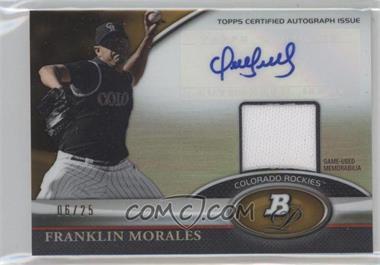 2011 Bowman Platinum - Autograph Relic Refractor - Gold #BAR-FM - Franklin Morales /25
