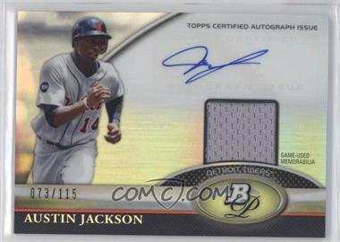 2011 Bowman Platinum - Autograph Relic Refractor #BAR-AJ - Austin Jackson /115