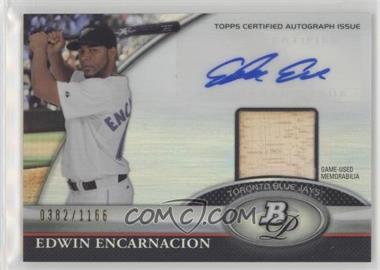2011 Bowman Platinum - Autograph Relic Refractor #BAR-EE - Edwin Encarnacion /1166