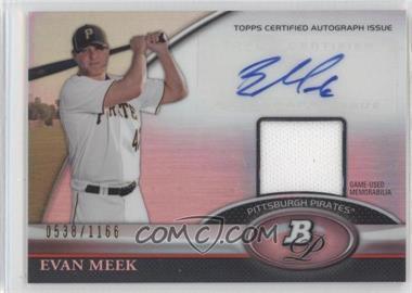 2011 Bowman Platinum - Autograph Relic Refractor #BAR-EM - Evan Meek /1166