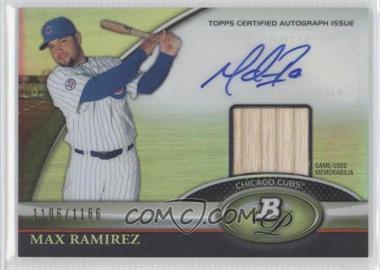 2011 Bowman Platinum - Autograph Relic Refractor #BAR-MR - Max Ramirez /1166