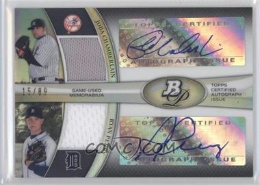 2011 Bowman Platinum - Dual Autograph Relic #DAR-CP - Joba Chamberlain, Ryan Perry /89