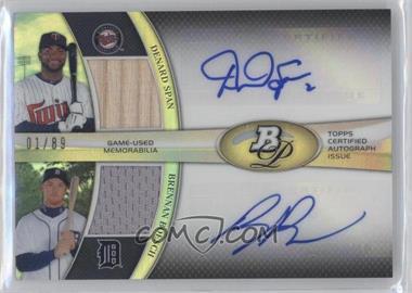 2011 Bowman Platinum - Dual Autograph Relic #DAR-SB - Denard Span, Brennan Boesch /89