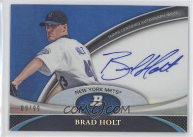 2011 Bowman Platinum - Prospect Autographs - Blue Refractor #BPA-BHO - Brad Holt /99