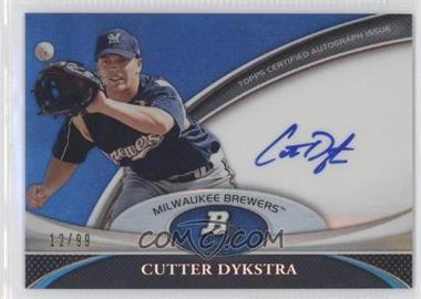 2011 Bowman Platinum - Prospect Autographs - Blue Refractor #BPA-CD - Cutter Dykstra /99