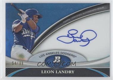2011 Bowman Platinum - Prospect Autographs - Blue Refractor #BPA-LL - Leon Landry /99