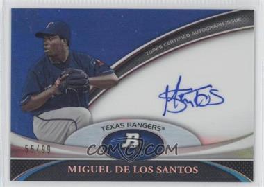 2011 Bowman Platinum - Prospect Autographs - Blue Refractor #BPA-MD - Miguel De Los Santos /99