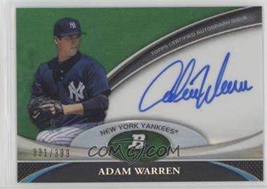 2011 Bowman Platinum - Prospect Autographs - Green Refractor #BPA-AWA - Adam Warren /399