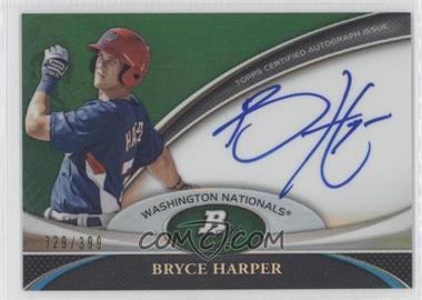 2011 Bowman Platinum - Prospect Autographs - Green Refractor #BPA-BH - Bryce Harper /399