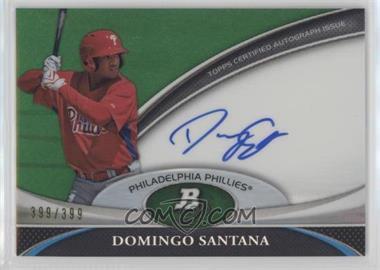 2011 Bowman Platinum - Prospect Autographs - Green Refractor #BPA-DS - Domingo Santana /399