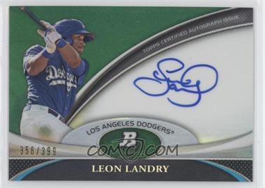 2011 Bowman Platinum - Prospect Autographs - Green Refractor #BPA-LL - Leon Landry /399