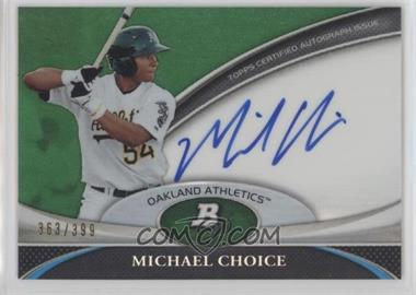 2011 Bowman Platinum - Prospect Autographs - Green Refractor #BPA-MC - Michael Choice /399
