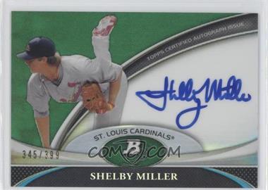 2011 Bowman Platinum - Prospect Autographs - Green Refractor #BPA-SM - Shelby Miller /399