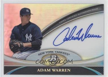 2011 Bowman Platinum - Prospect Autographs #BPA-AWA - Adam Warren