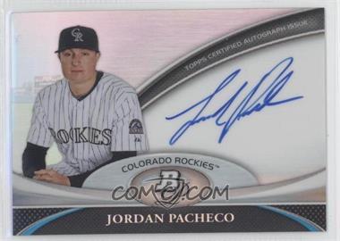 2011 Bowman Platinum - Prospect Autographs #BPA-JPA - Jordan Pacheco