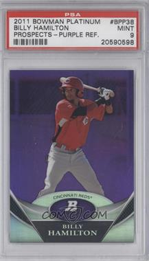 2011 Bowman Platinum - Prospects - Retail Purple Refractor #BPP38 - Billy Hamilton [PSA 9]