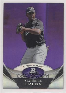 2011 Bowman Platinum - Prospects - Retail Purple Refractor #BPP88 - Marcell Ozuna
