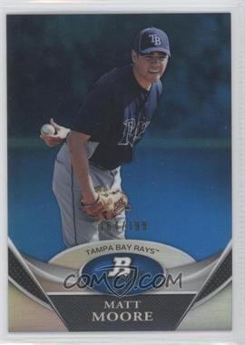 2011 Bowman Platinum - Prospects Refractor - Blue #BPP98 - Matt Moore /199