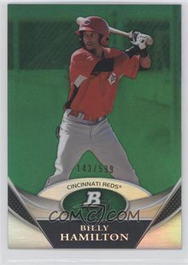 2011 Bowman Platinum - Prospects Refractor - Green #BPP38 - Billy Hamilton /599