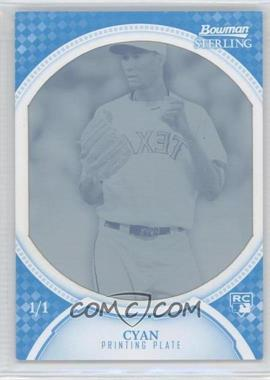 2011 Bowman Sterling - [Base] - Printing Plate Cyan #37 - Alexi Ogando /1
