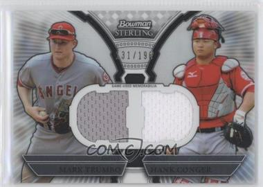 2011 Bowman Sterling - Box Loader Dual Relics #DRB-TC - Mark Trumbo, Hank Conger /196