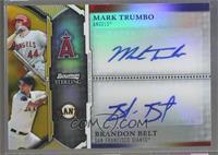 Mark Trumbo, Brandon Belt /50