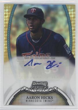 2011 Bowman Sterling - MLB Future Stars Autographs - Gold Refractor #BSP-AH - Aaron Hicks /50