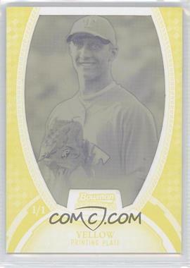 2011 Bowman Sterling - MLB Future Stars Autographs - Printing Plate Yellow #BSP-50 - Kevin Matthews /1