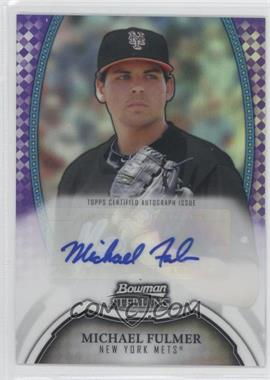 2011 Bowman Sterling - MLB Future Stars Autographs - Purple Refractor #BSP-MF - Michael Fulmer /10