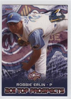 2011 Choice Carolina League Top Prospects - [Base] #2 - Robbie Erlin