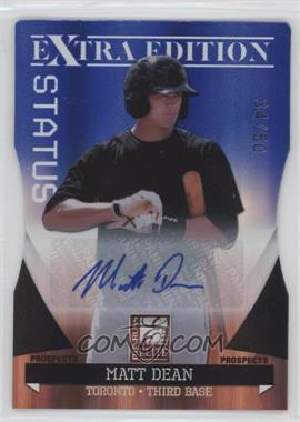 2011 Donruss Elite Extra Edition - Autographed Prospects - Blue Die-Cut Status #P-32 - Matt Dean /50