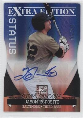 2011 Donruss Elite Extra Edition - Autographed Prospects - Blue Die-Cut Status #P-9 - Jason Esposito /50