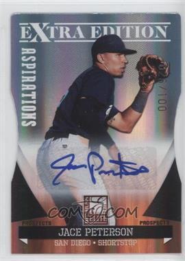 2011 Donruss Elite Extra Edition - Autographed Prospects - Die-Cut Aspirations #P-18 - Jace Peterson /100