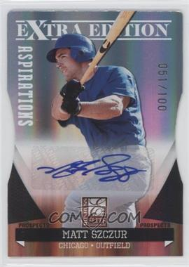 2011 Donruss Elite Extra Edition - Autographed Prospects - Die-Cut Aspirations #P-21 - Matt Szczur /100