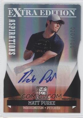 2011 Donruss Elite Extra Edition - Autographed Prospects - Die-Cut Aspirations #P-43 - Matt Purke /100