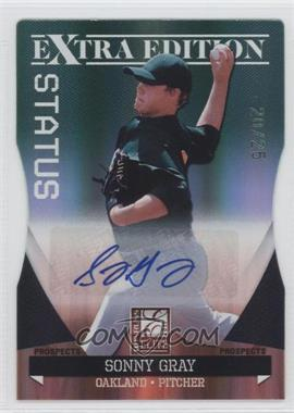 2011 Donruss Elite Extra Edition - Autographed Prospects - Emerald Die-Cut Status #P-14 - Sonny Gray /25