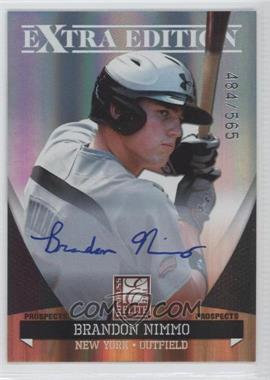 2011 Donruss Elite Extra Edition - Autographed Prospects #P-24 - Brandon Nimmo /565