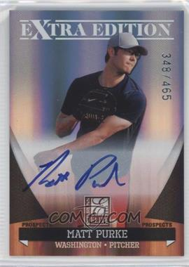 2011 Donruss Elite Extra Edition - Autographed Prospects #P-43 - Matt Purke /465
