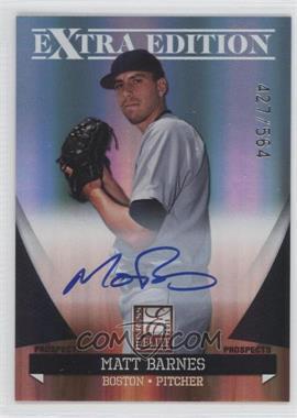 2011 Donruss Elite Extra Edition - Autographed Prospects #P-48 - Matt Barnes /564