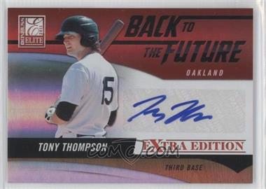 2011 Donruss Elite Extra Edition - Back to the Future Signatures #18 - Tony Thompson /420