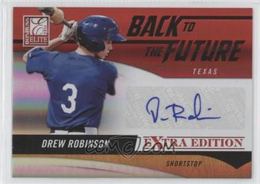 2011 Donruss Elite Extra Edition - Back to the Future Signatures #21 - Drew Robinson /302